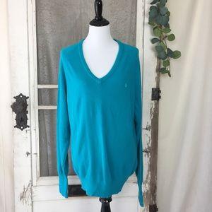 Mens/ Womens DIOR Blue V-neck Sweater Size Medium